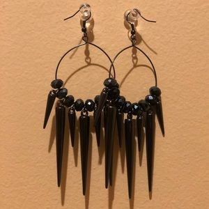 Black spiked earrings
